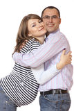 Happy young man and his pregnant wife Royalty Free Stock Photography