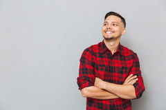 Happy young man looking aside. Stock Photography