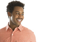 Happy Young Man Looking Away Stock Images