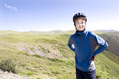 Happy young man  in nature Stock Photo