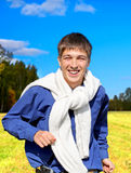 Happy Young Man outdoor Stock Image