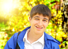 Happy Young Man outdoor Stock Images