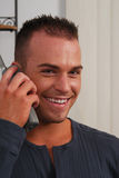 Happy young man on the phone Royalty Free Stock Photo