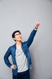 Happy young man showing finger up Stock Photography