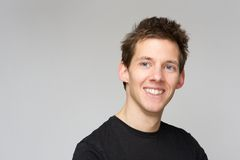 Happy young man smiling Royalty Free Stock Photo