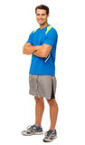Happy Young Man In Sports Clothing Stock Images