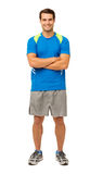 Happy Young Man In Sportswear Stock Photos