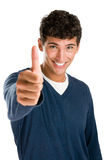 Happy young man thumb up stock photography
