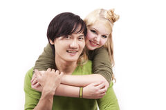 Happy young mixed couple Royalty Free Stock Image