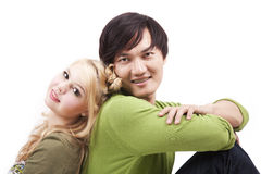 Happy young mixed couple Royalty Free Stock Images