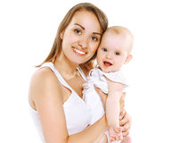 Happy young mom and baby having fun Royalty Free Stock Photography