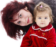 Happy young mother and daughter Stock Photography