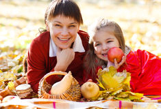 Happy young mother with daughter Stock Images