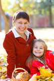 Happy young mother with daughter Royalty Free Stock Photos