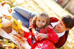 Happy young mother with daughter Stock Photos