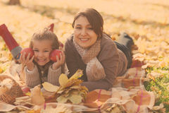 Happy young mother with daughter Royalty Free Stock Photography
