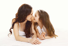 Happy young mother and daughter in happiness! Royalty Free Stock Photos