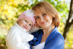 Happy young mother with her daughter Royalty Free Stock Photography
