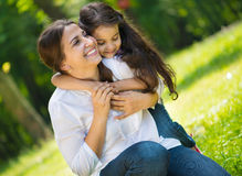 Happy young mother with her daughter Stock Photo