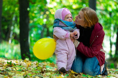 Happy young mother and her little Royalty Free Stock Photos