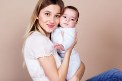 Happy young mother with her little son Royalty Free Stock Image