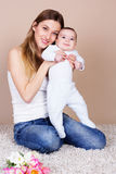 Happy young mother with her little son Royalty Free Stock Photography