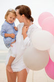 Happy young mother with her small daughter Royalty Free Stock Photography
