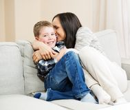 Happy young mother with her son Royalty Free Stock Image