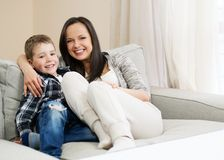 Happy young mother with her son Stock Image