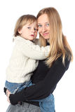 Happy Young Mother Holding Her Child Royalty Free Stock Photos