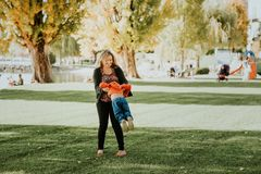 Happy young mother holding sweet toddler boy Royalty Free Stock Photography