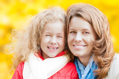 Happy young mother and small daughter. Royalty Free Stock Image
