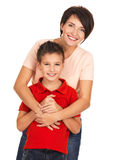 Happy young mother with son Royalty Free Stock Image