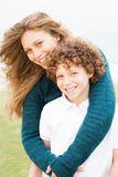 Happy young mother with son Royalty Free Stock Images