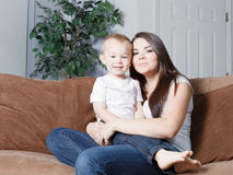 Happy young mother and toddler Stock Photography