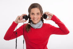 Happy young music lover Royalty Free Stock Photography