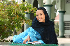 Happy Young Muslim Girl Stock Image