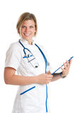 Happy young nurse Stock Photo