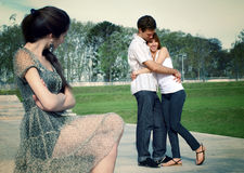 Free Happy Young Pair In Park Royalty Free Stock Photos - 11171338