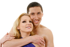Happy young pair in love Royalty Free Stock Photos