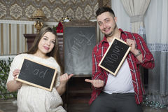 Happy young parents expecting the birth of their unborn child. Royalty Free Stock Photos