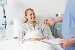 Happy young patient Stock Photography