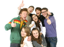 Happy young people Royalty Free Stock Image