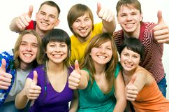 Happy young people Royalty Free Stock Photos