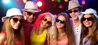 Happy young people at party royalty free stock photo