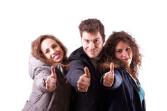 Happy Young People with Thumbs Up Royalty Free Stock Photography