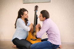 Happy young pregnant couple Royalty Free Stock Photo