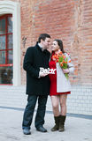 Happy young pregnant woman with her husband Royalty Free Stock Images