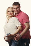 Happy young pregnant woman with her husband Stock Photography