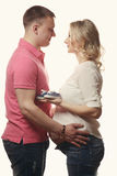 Happy young pregnant woman with her husband Stock Photo
